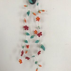 Jewelry - Hand made glass and wire floral necklace